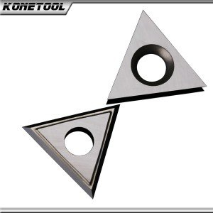 Raschietto triangolare in metallo duro E-60 ° x 1,5 mm - 25 °